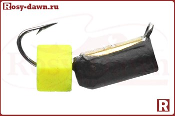 """""""Гвоздекубик"""" 4мм, 2гр, коронка, светонакопитель сырный кубик - фото 11654"""