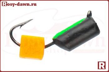 "Мормышка ""Гвоздекубик"" 3мм, 0.7гр, светонакопитель оранж кубик - фото 11662"