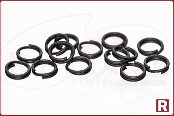 Заводные кольца Split Ring Rosco Matt Black №0, 16шт, 5кг - фото 9809
