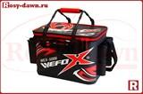Wefox Eva Wex 5006 с держателями удилищ, черно-красная, 40см