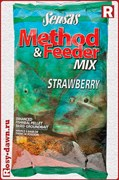 Sensas Method&Feeder Mix Strawberry 1кг