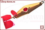 "Блесна-колебалка Сатурн ""Кольская""(медь, вращ. шарик) 60мм, 13гр"