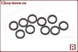 Сплошные кольца Round Ring Rings Matt Black 3мм, 10шт