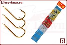 Готовые карасевые поводки Herabuna №6, 50см, 0.17мм