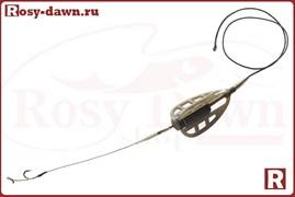 Монтаж методный Method Feeder на лидкоре, 40гр