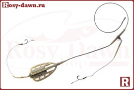 Монтаж методный Method Feeder на лидкоре, два крючка, 40гр