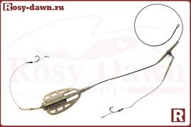 Монтаж методный Method Feeder на лидкоре, два крючка, 50гр