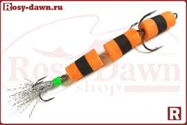 """Приманка """"Мандула"""" трехсоставная (оранжево-черная)"""
