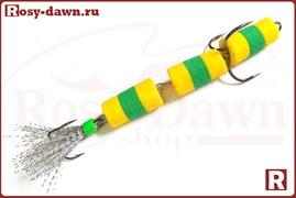 """Приманка """"Мандула"""" трехсоставная (желто-зел)"""