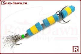 """Приманка """"Мандула"""" трехсоставная (желто-голубая)"""