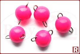Грузила-чебурашки разборные, флюо.розовые, 0.6гр, 5шт. (Тула)