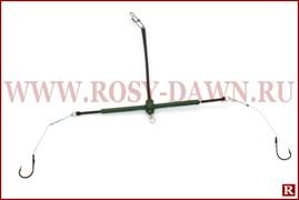 Каркас для технопланктона оснащенный 11*9см, два крючка
