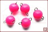 Грузила-чебурашки разборные, флюо.розовые, 1.2гр, 5шт. (Тула)