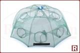 Восьмигранная раколовка-зонт 80см, автомат, 8 входов