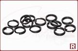 Заводные кольца Split Ring Rosco Matt Black №0, 16шт, 5кг