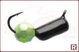 """Мормышка """"Гвоздешарик"""", Ø2.5мм, 0.85гр. (многогранный зеленый шарик)"""